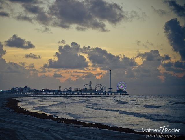Galveston Island Seascape at Pleasure Pier during Sunrise (9)