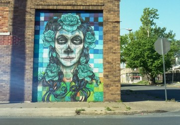 Old East Dallas Calavera Mural