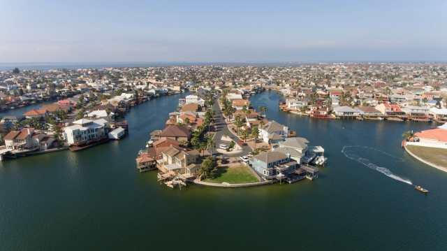 Padre Island drone photo