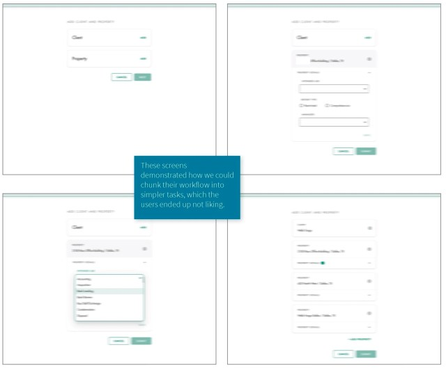 UX wireframe iteration 1