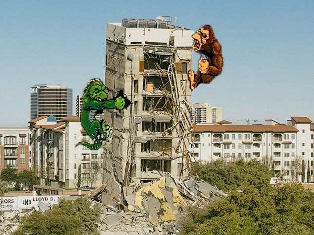 Rampage on the Leaning Tower of Dallas