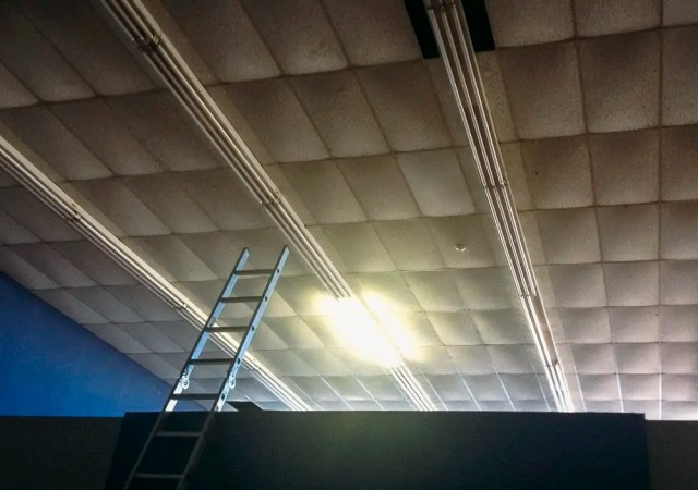 A ladder and the ceiling