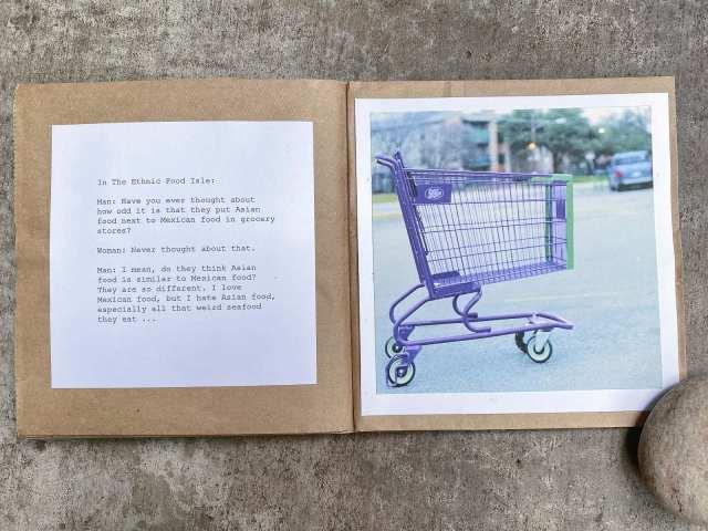 Abandoned Shopping Carts Book Art by Matthew T Rader