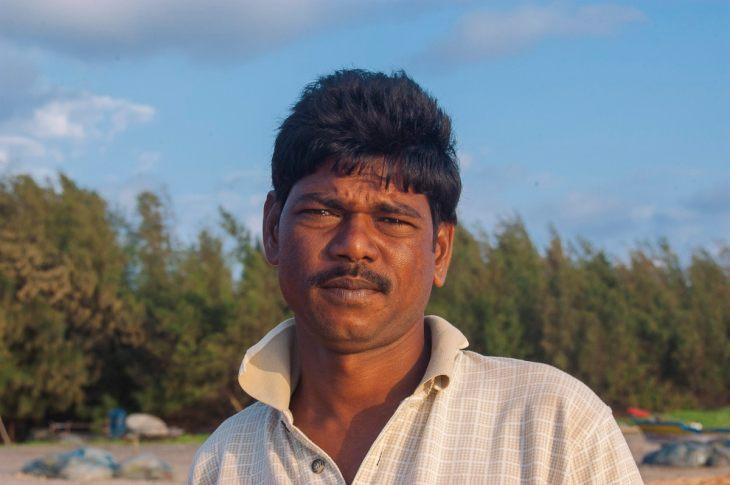 A fisherman on Nagapattinam Beach