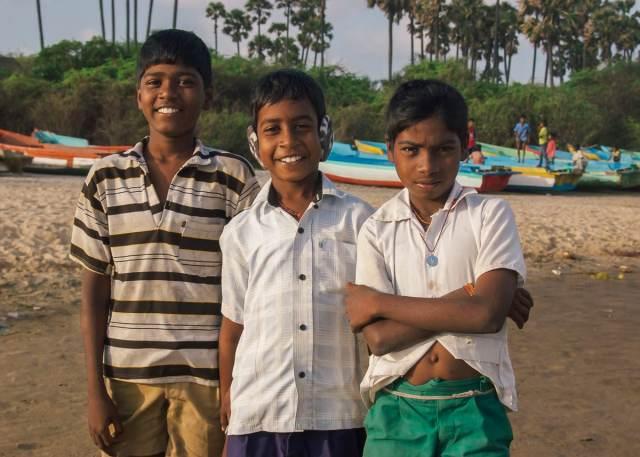 Children on Nagapattinam Beach