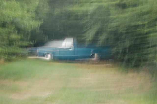 A neglected and rusted Chevy Bel Air
