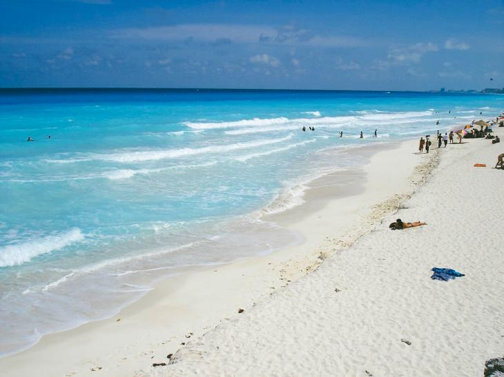 A beach in Cancun