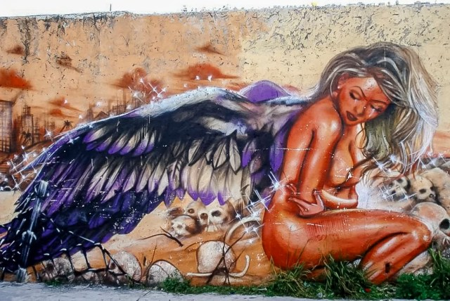 A mural in Mexico