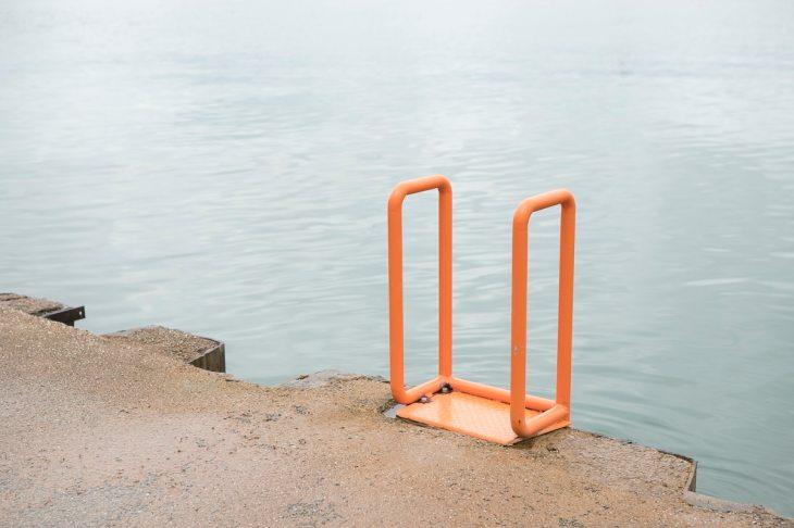 A ladder at Chicago Beach