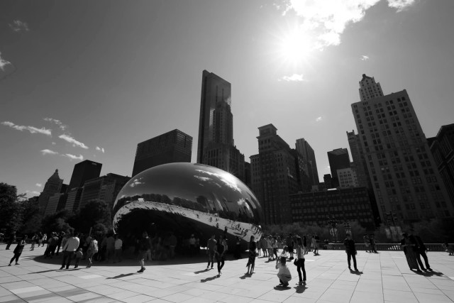 The Cloud Gate sculpture by Sir Anish Kapoor at the Millennium Park
