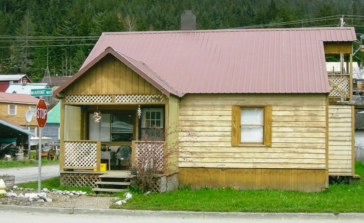 An old house in Hoonah, Alaska
