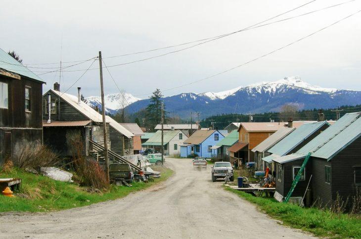 Old houses in Hoonah, Alaska