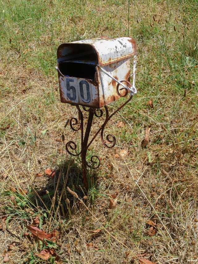 An rusty mailbox