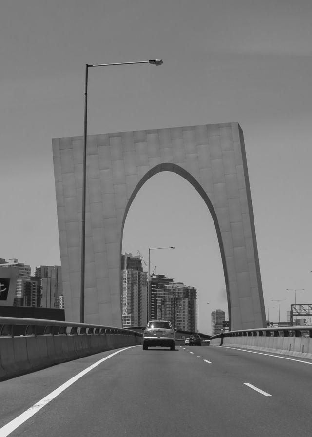 Westgate freeway portal arch, Melbourne