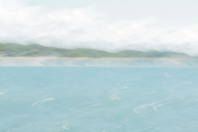 Abstract photo of Holland Beach, Michigan