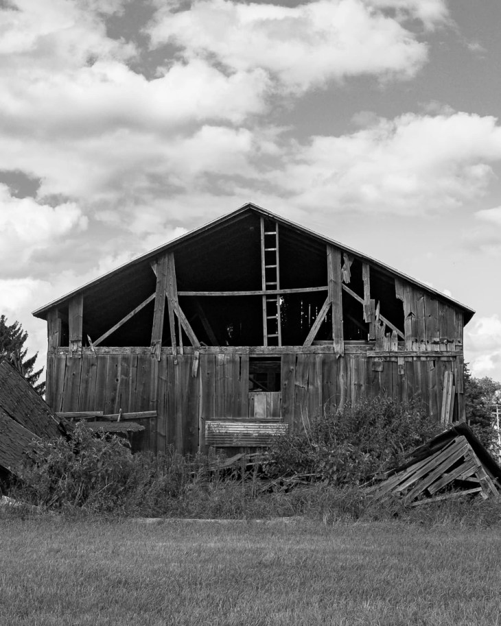 A dilapidated barn in rural Michigan