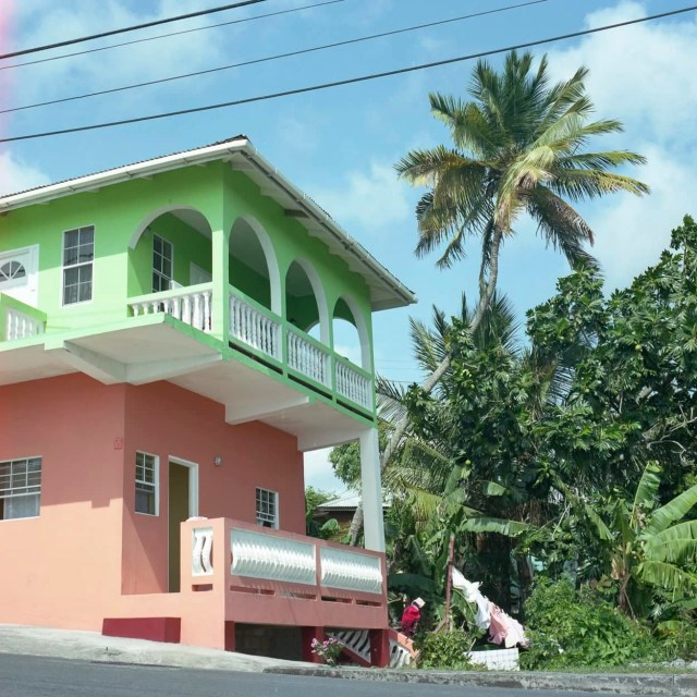 A beautiful and colorful house in St. Lucia