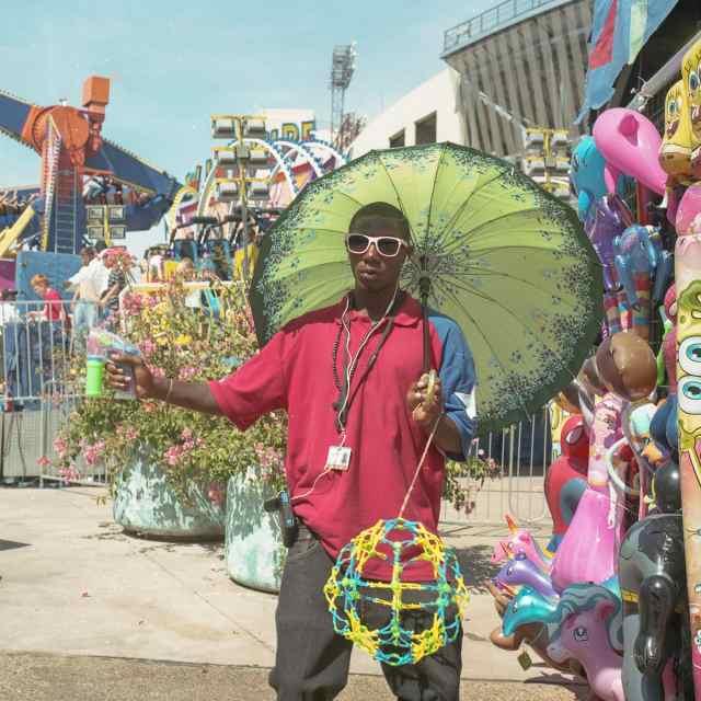 A vendor at the fair