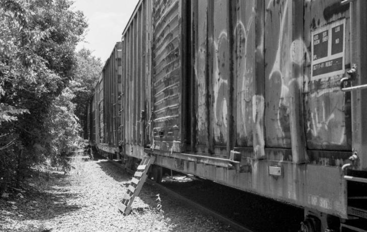 Urban exploring an abandoned rail car in Addison, Texas