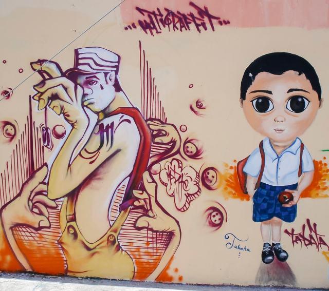 Cancun street art in Mexico