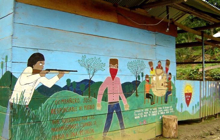 EZLN mural in Chiapas, Mexico