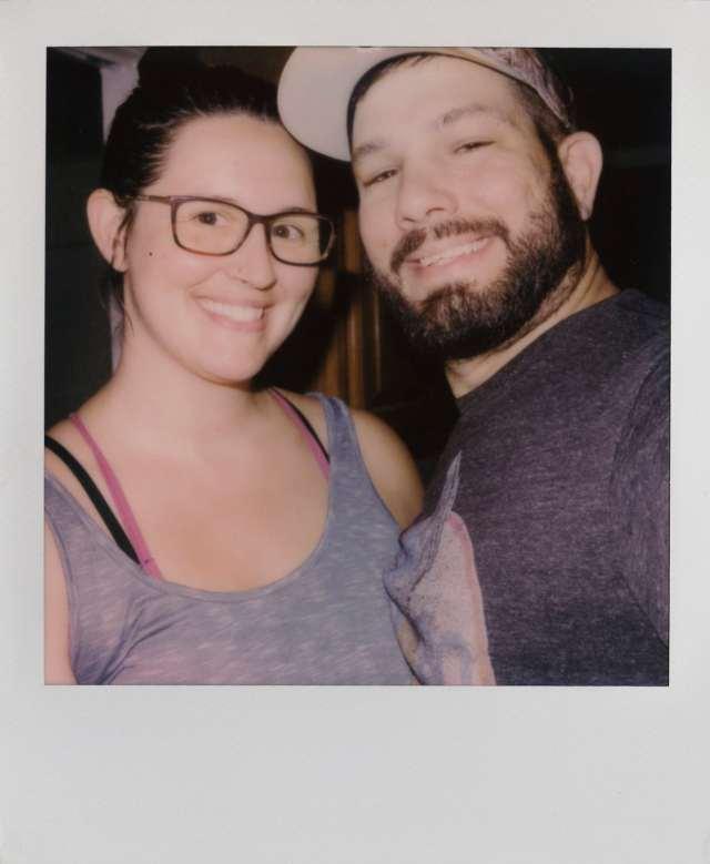 Polaroid photos selfie of us both shortly before we left