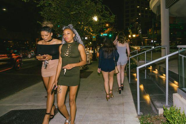 Uptown Dallas at night