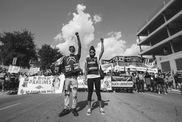 The George Floyd Protest against police brutality in Dallas