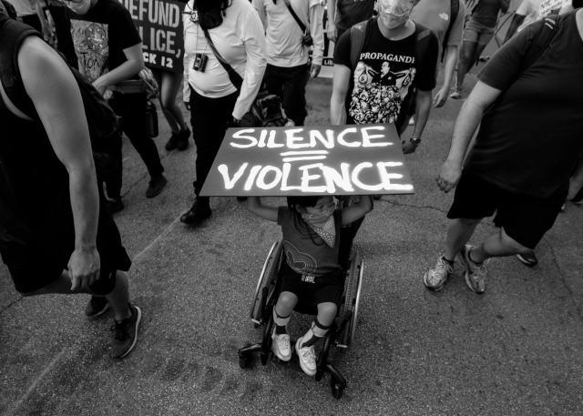 Black Lives Matter protest in Dallas, Texas