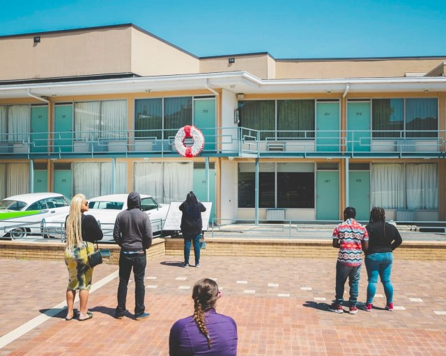 Social Distancing at The Lorraine Motel where MLK was assassinated in Memphis, Tennessee