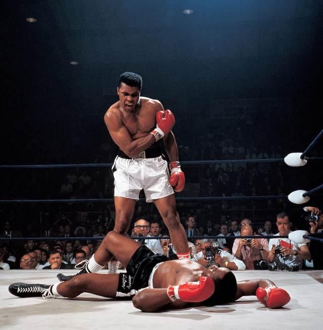 Muhammad Ali Vs. Sonny Liston, Neil Leifer, 1965, Memorable Photo