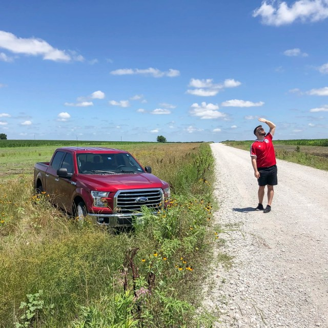 Photos People Remember: A Ford F150 stuck in the grass