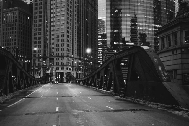 The empty streets of Chicago