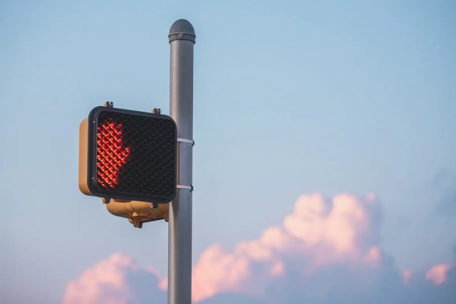 A do not cross sign with the clouds behind it in Heath, Texas. Best Photos of 2020.