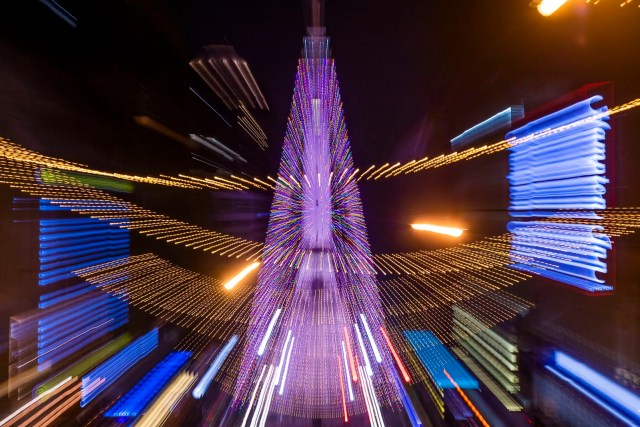 Indianapolis World's Largest Christmas Tree abstract photo
