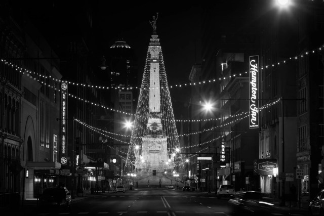 """The so called """"World's Tallest Christmas Tree"""" in Indianapolis, Indiana"""