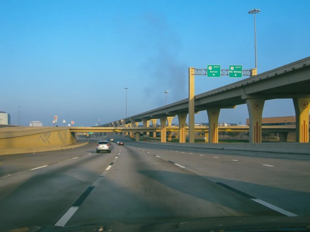 Commuting in Dallas on highway 635