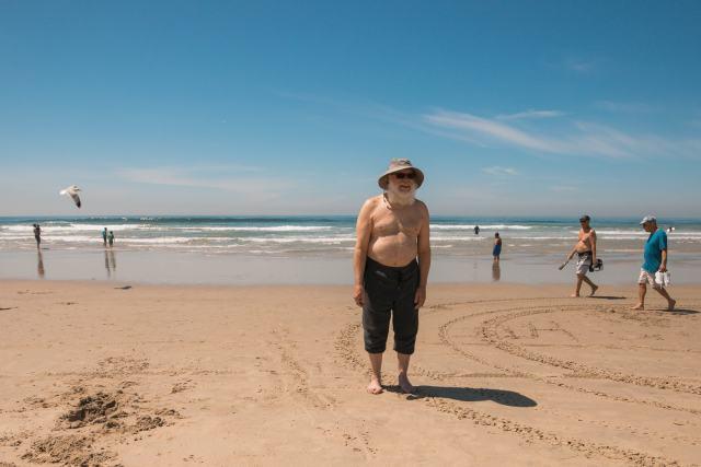 An older man at Ocean Beach