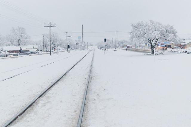Train Tracks in the 2010 North American Blizzard