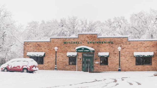 Mitchell Engineering in Wills Point snow