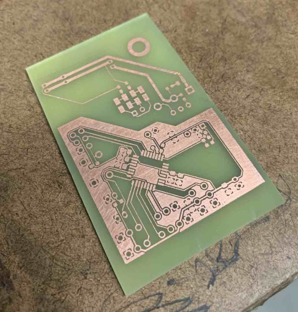 pcb lam v1.5 after etch