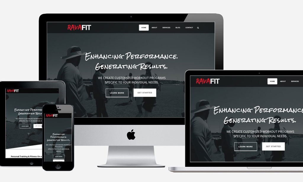Ravafit Freelance Web Design