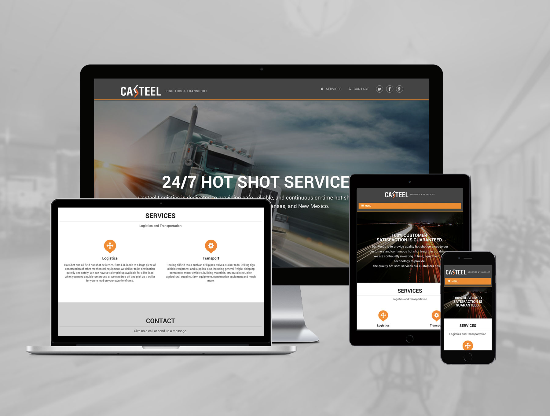 web design showcase - casteel logistics
