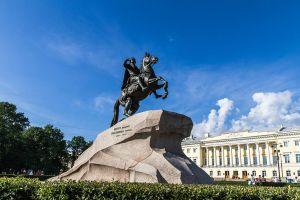 Statue Peters des Großen.