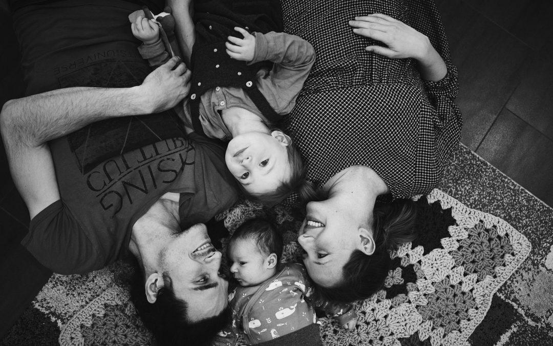 Babybauch und Newborn Shooting zuhause