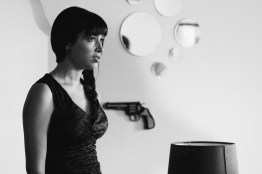 Hannah Simone on the set of Sati Shaves her head. Los Angeles 2011.