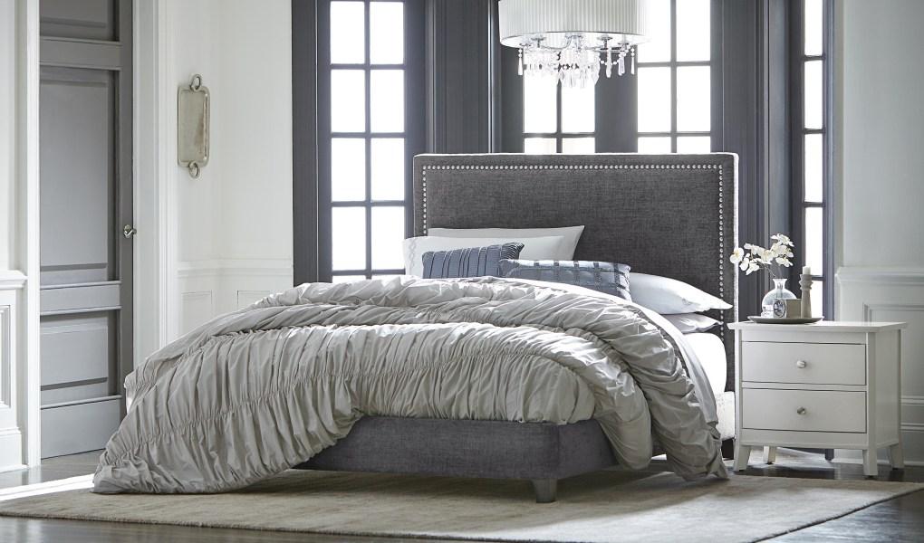Adessa Bed with Fabric Headboard_Mattie Lu