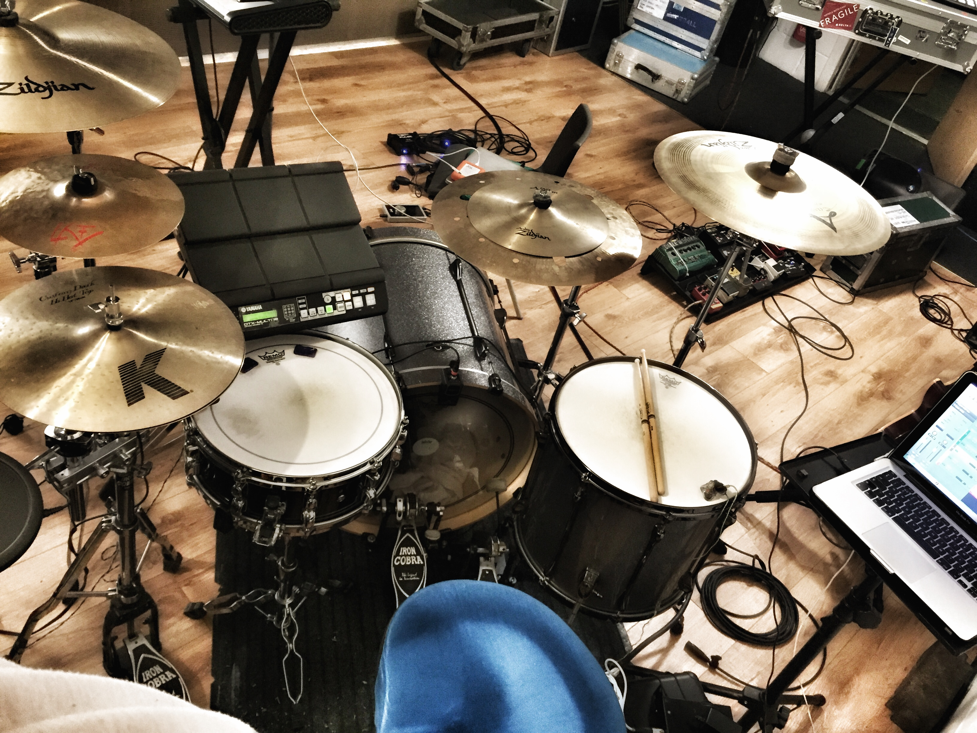 My set up at The Premisis Studios, while working with Allie X (L.A) on a UK promo tour.