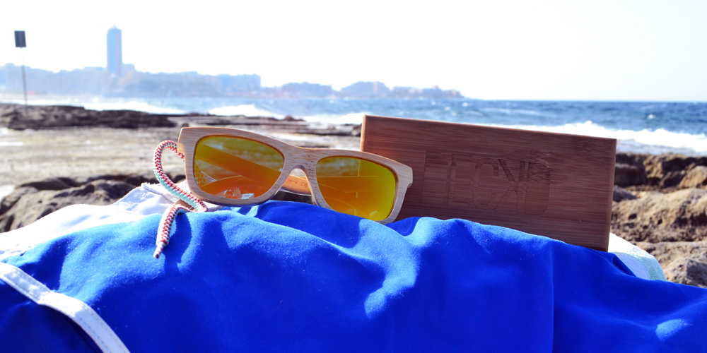 Caravel gold wooden sunglasses