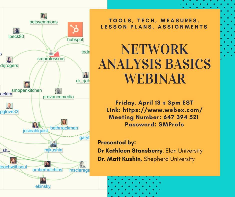 social network analysis basics webinar watch now